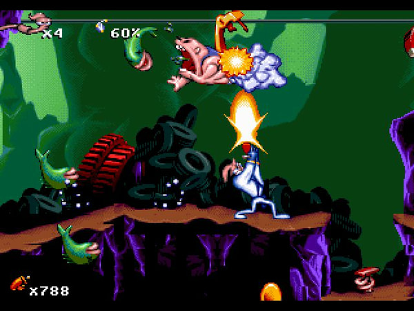 Earthworm Jim 1+2: The Whole Can 'O Worms screenshot 1